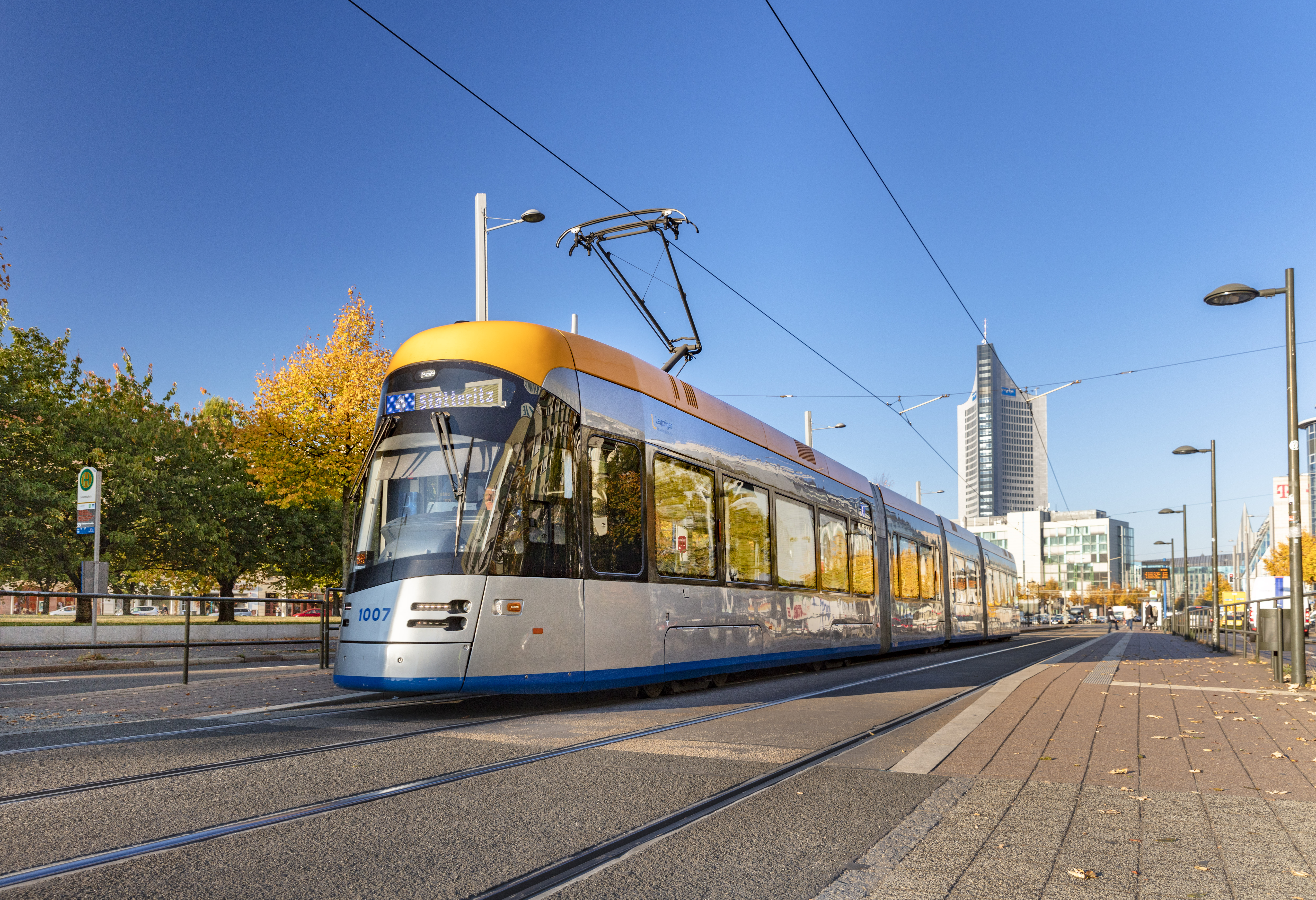 Foto von Straßenbahn