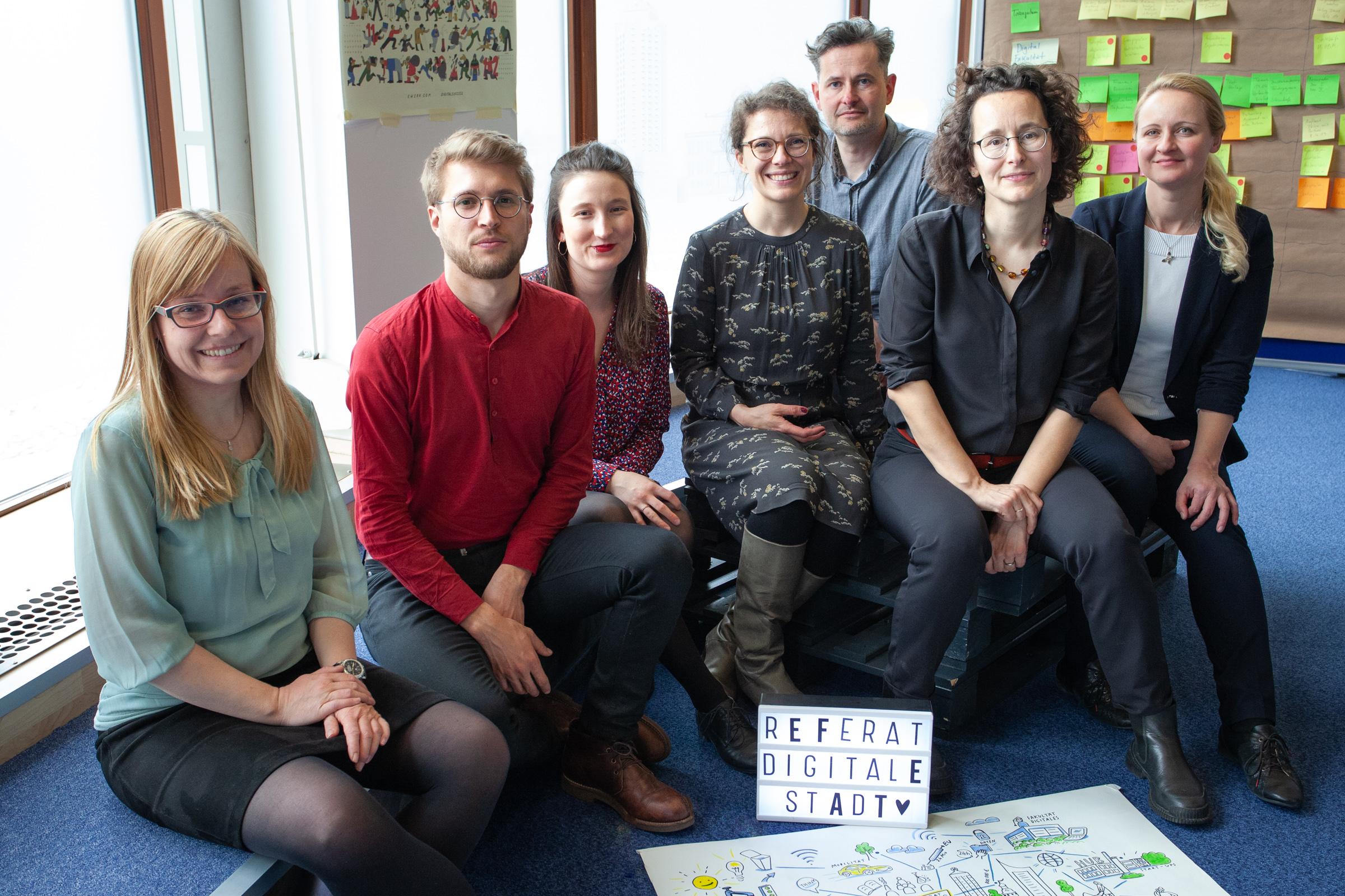 Team vom Referat Digitale Stadt