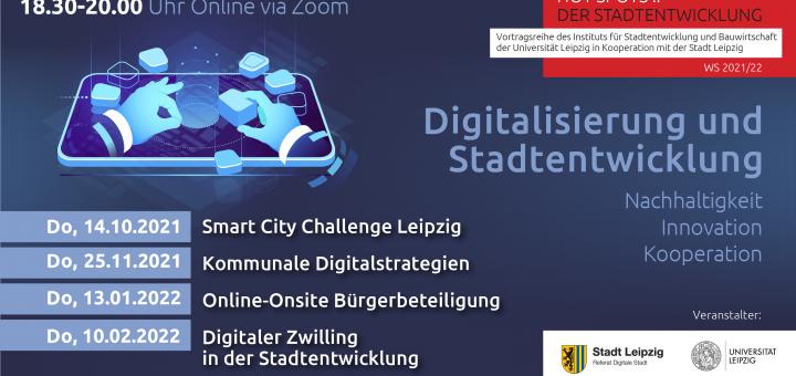 Flyer HOT SPOTS:: Der Stadtentwicklung Veranstaltungsreihe Wintersemester 2021, alle Infos im Artikel